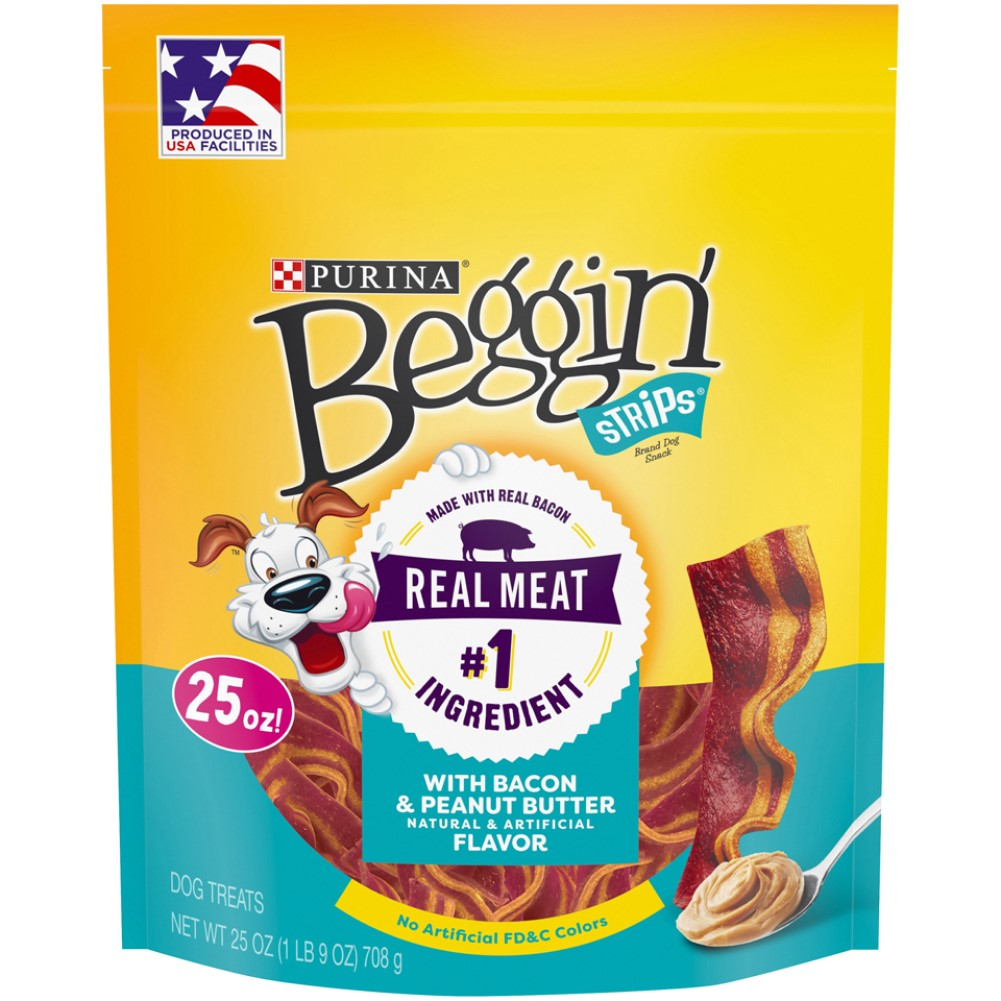 Beggin Strips 25oz Bacon & Peanut Butter Dog Treats