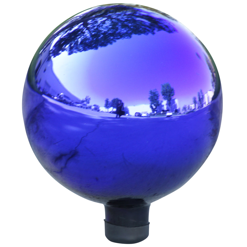 Alpine Corporation Electric Blue Glass Gazing Globe