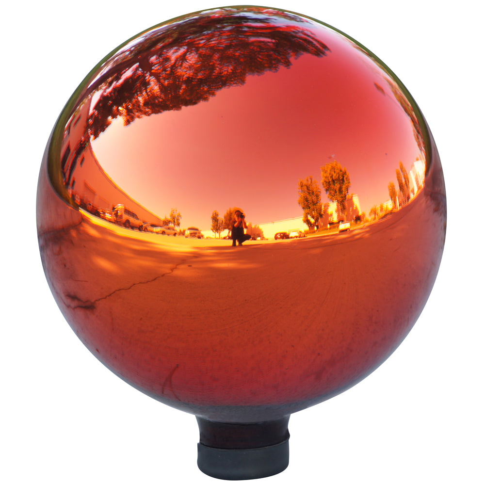 Alpine Corporation Electric Red Glass Gazing Globe