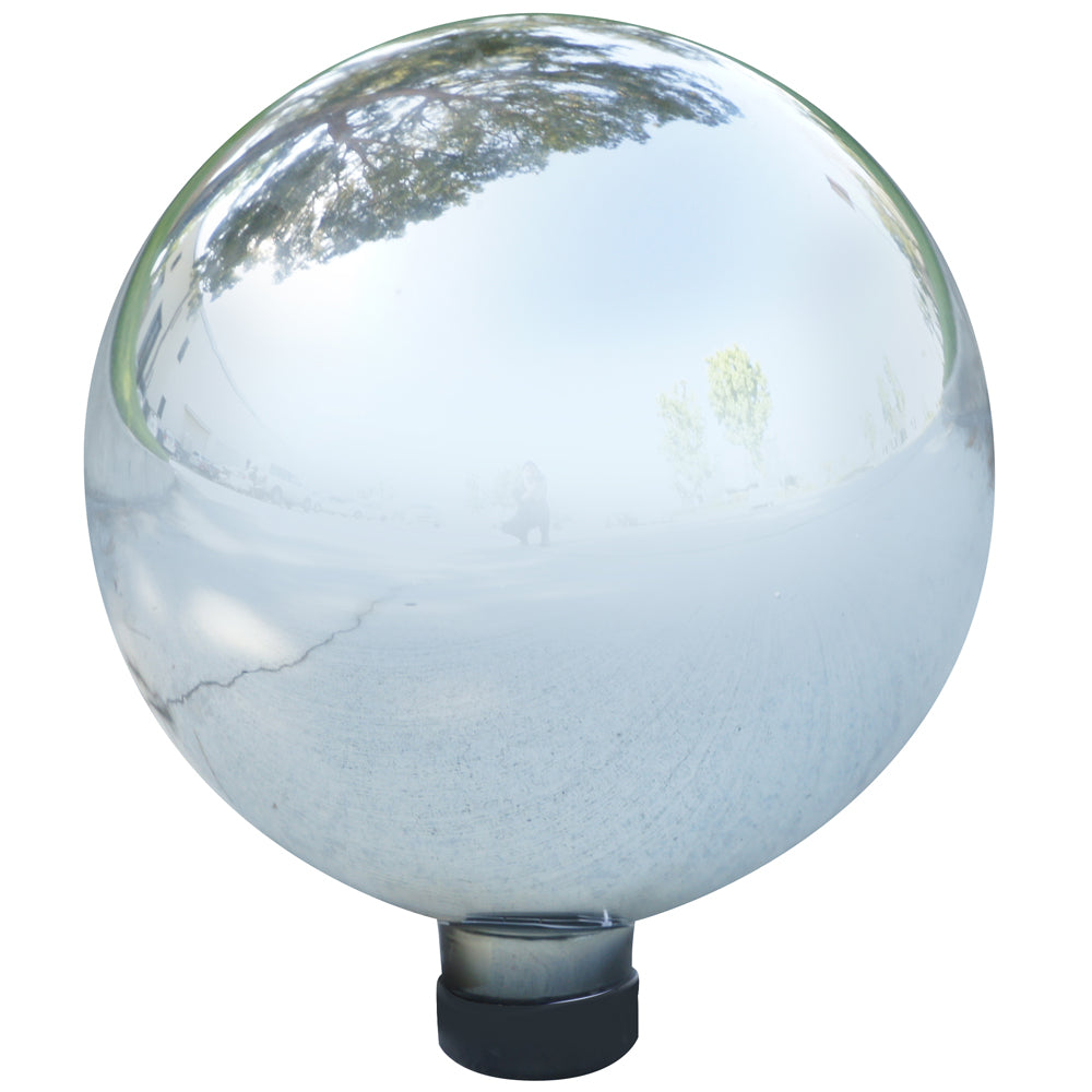 Alpine Corporation Silver Glass Gazing Globe
