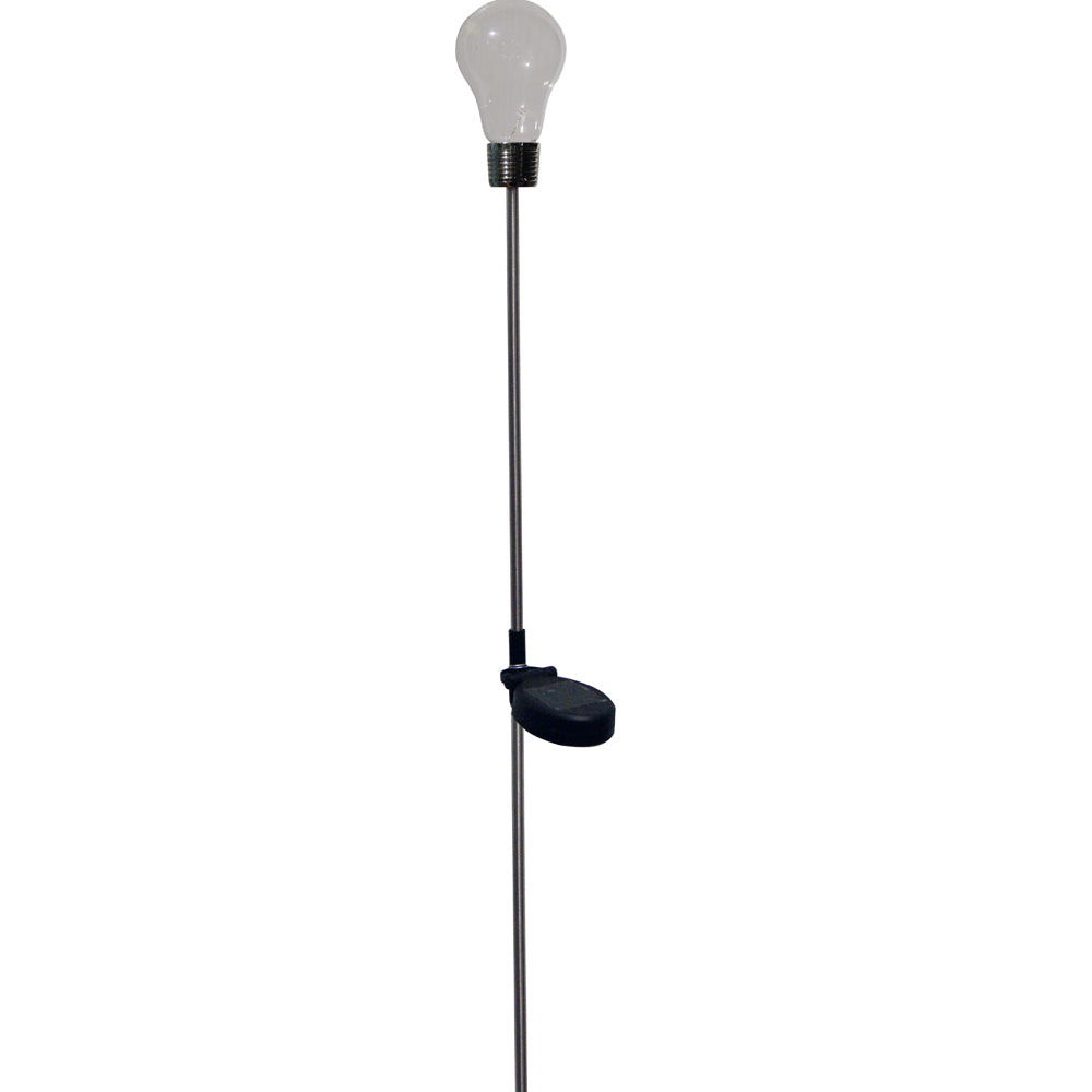 Alpine Corporation LED Glass Solar Light Bulb Stake With Wall Plug