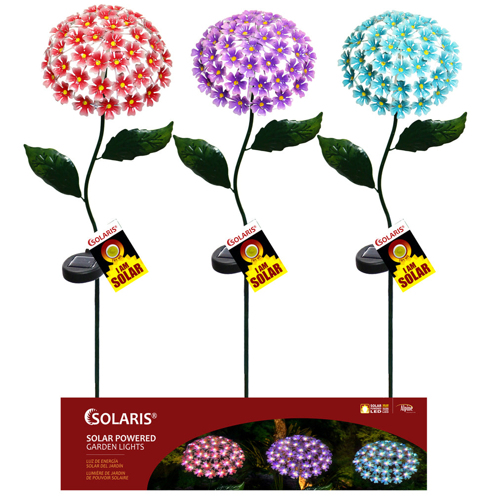 Alpine Corporation Solar Metal Led Flower Stake