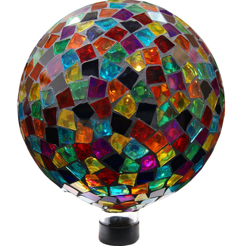 Alpine Corporation Multi-Colored Mosaic Gazing Globe