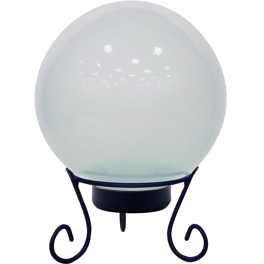 Alpine Corporation White Gazing Globe With LED Lights