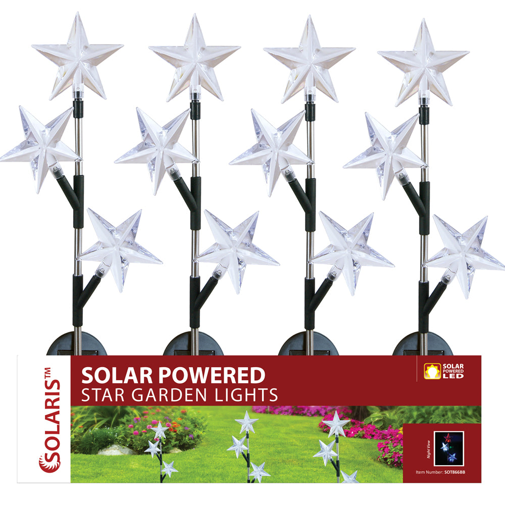 Alpine Corporation Solar Star Trio LED Garden Stake