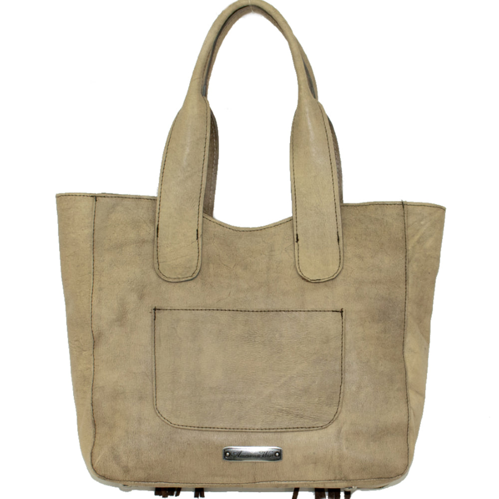 American West Large Gypsy Patch Zip-Top Tote Sand