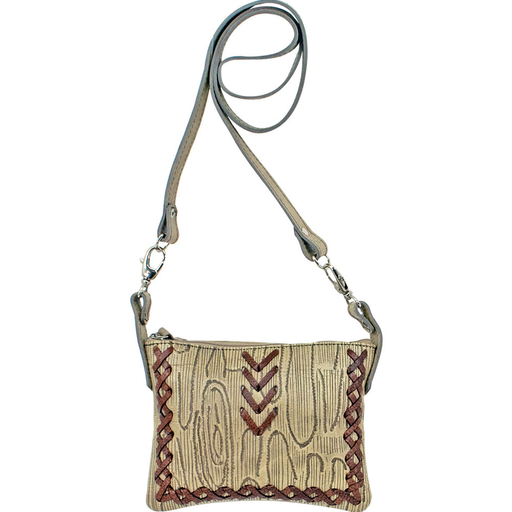 American West Driftwood Trail Rider Crossbody/Hip Bag Sand