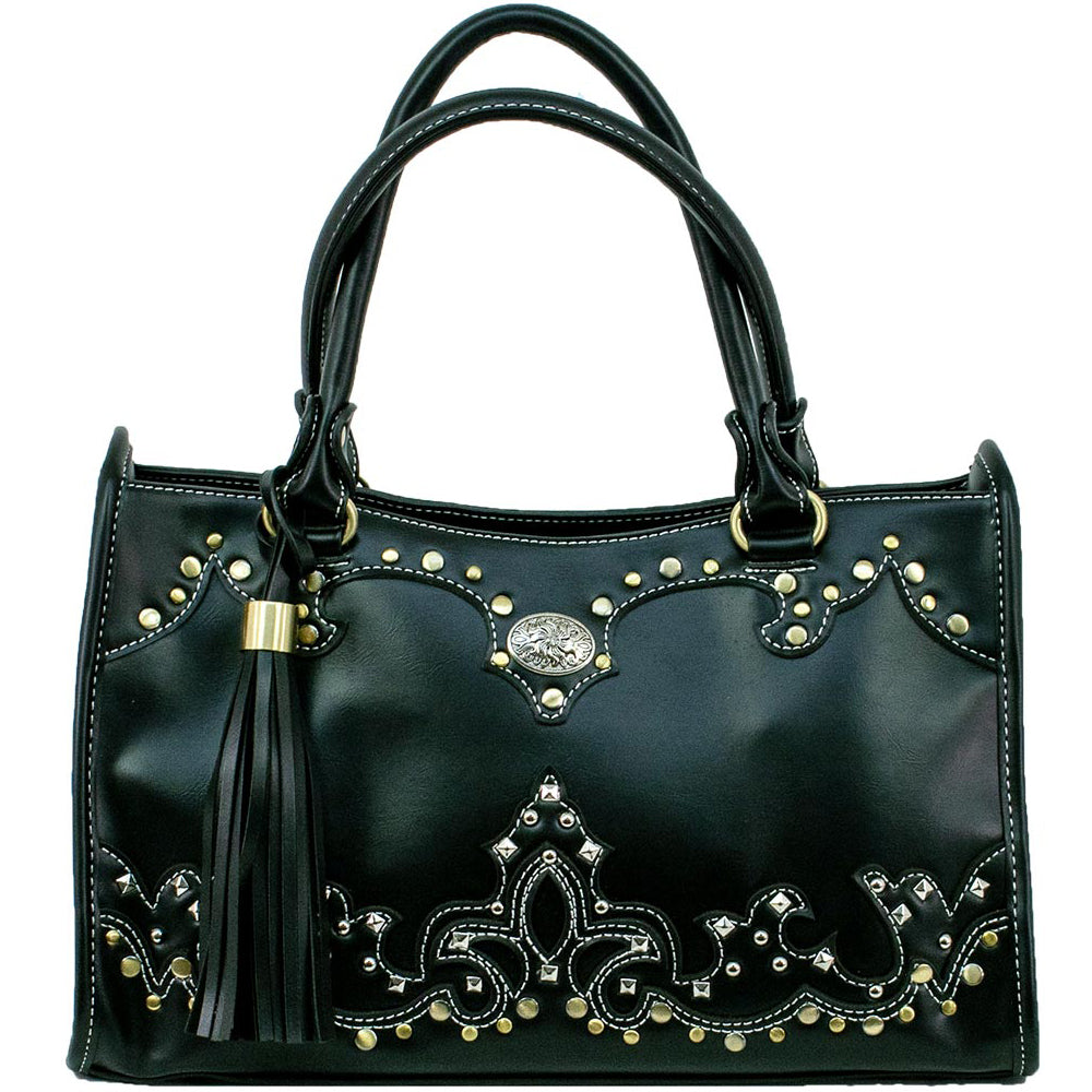 American West/Bandana Handbag With A Concho Black