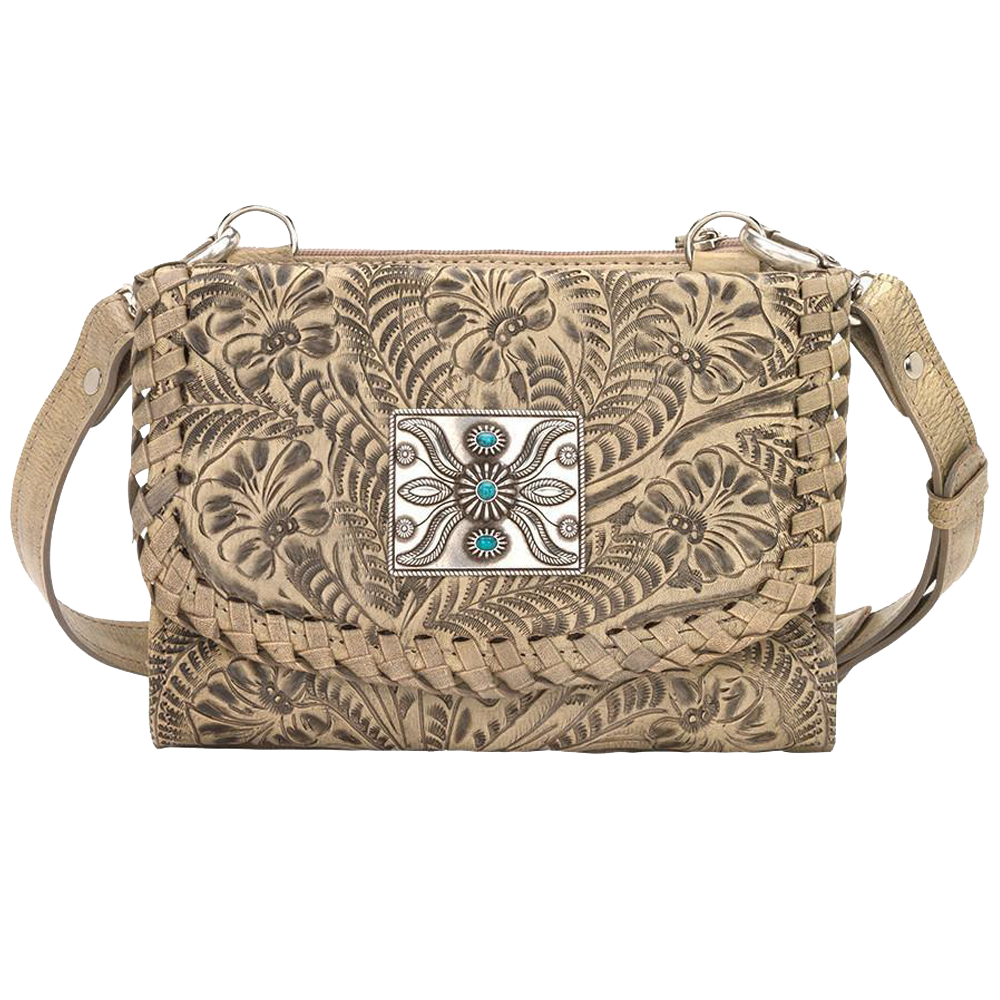 American West Small Crossbody Bag/Wallet Sand