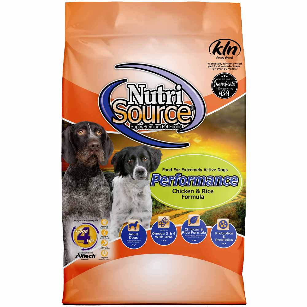 NutriSource Performance Dog Food Chicken And Rice 40-Lbs
