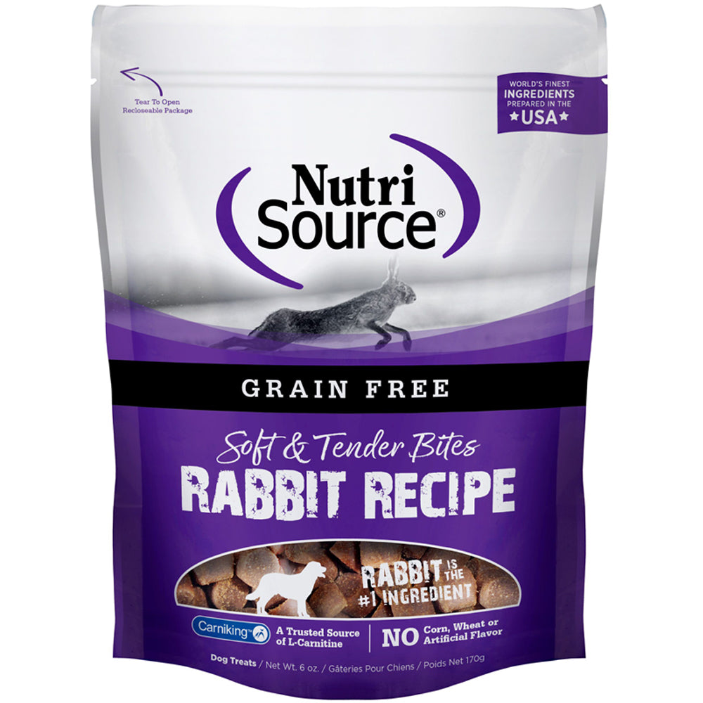 NutriSource Grain Free Rabbit Bite Treats 6-Oz