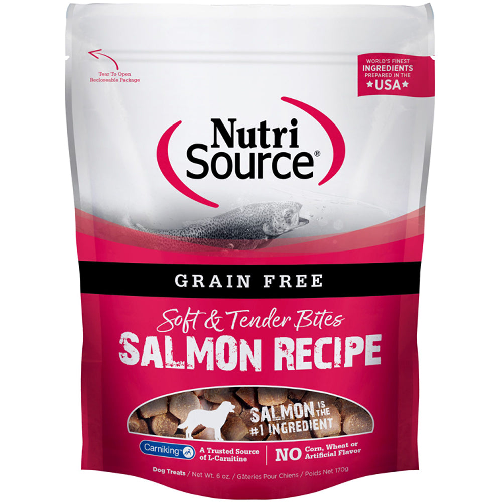 NutriSource Grain Free Salmon Bite Treats 6-Oz