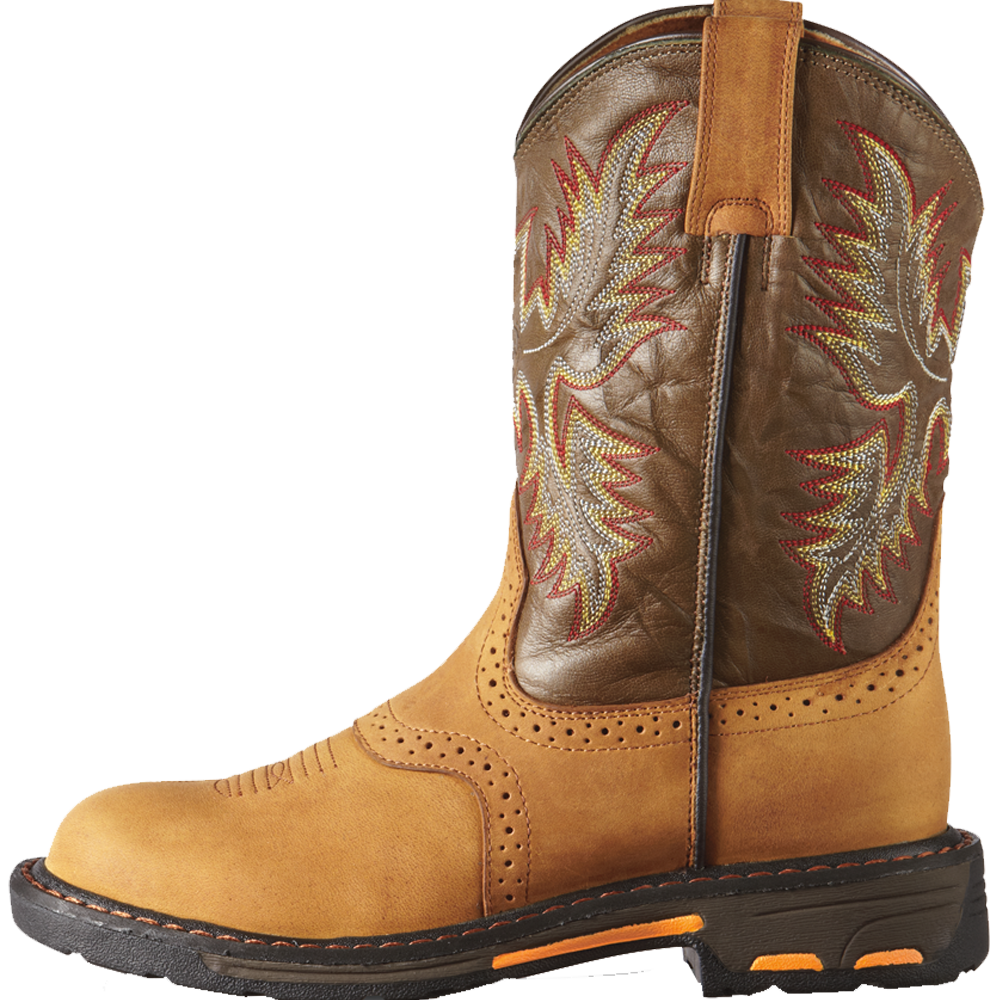 Ariat 6 Kids WorkHog Pull-On Boot Aged Bark