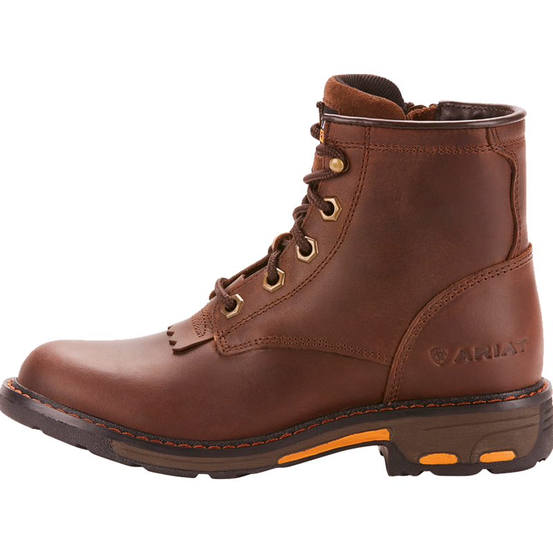 Ariat 5 Kids WorkHog Lacer Boot Brown