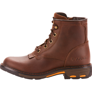 Ariat 12 Kids WorkHog Lacer Boot Brown
