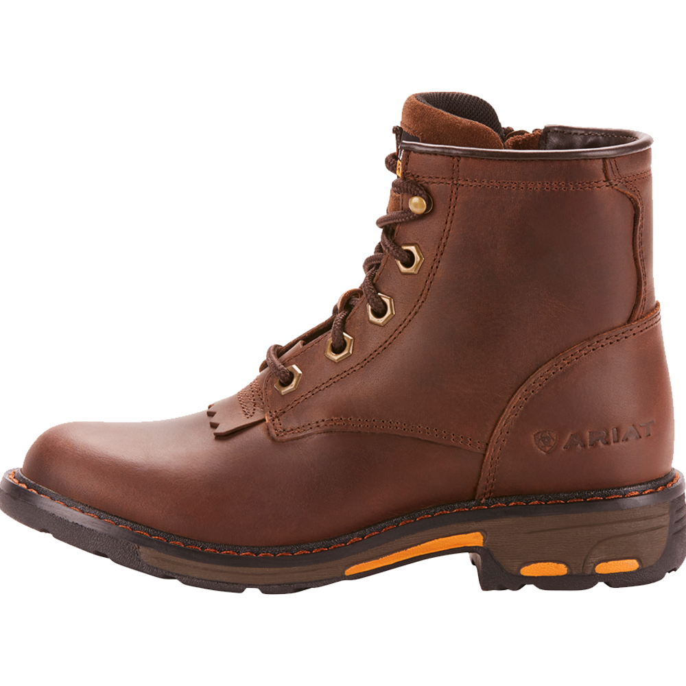 Ariat 6 Kids WorkHog Lacer Boot Brown