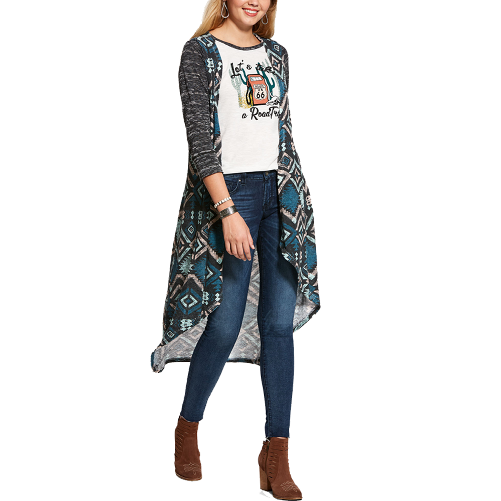 Ariat Large Womens Hunter Vest Aztec Print