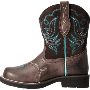 Ariat 12 Kids Fatbaby Heritage Dapper Western Boot Toffee Bean
