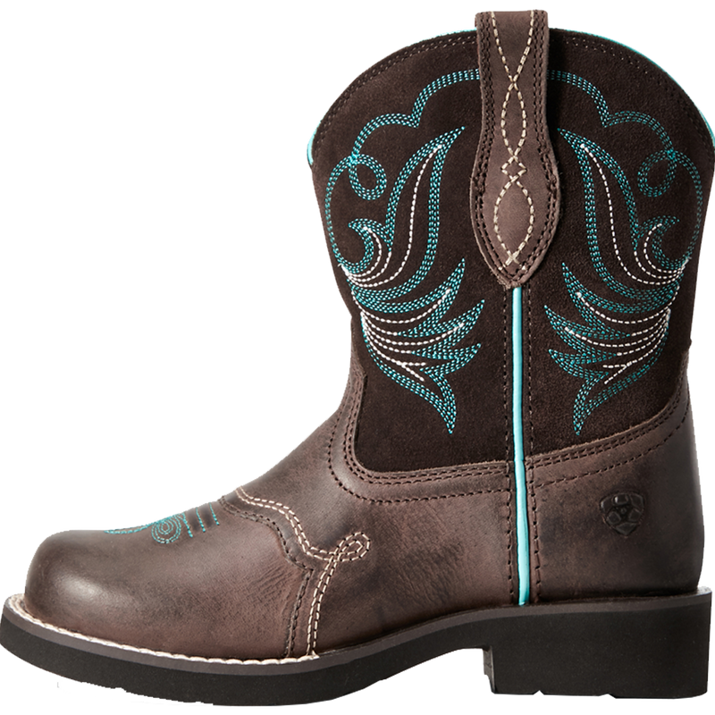 Ariat 5 Kids Fatbaby Heritage Dapper Western Boot Toffee Bean