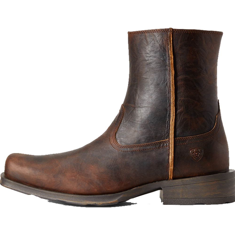Ariat 10.5D Mens Rambler Ultra Western Boot Bar Top Brown