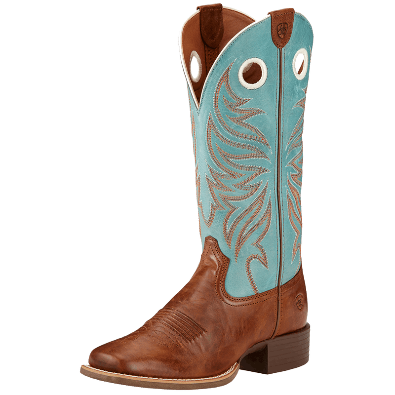 6.5B Ariat Women's Round Up Ryder Western Boot Wood