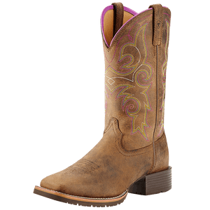 6B Hybrid Rancher Boot Distressed Brown