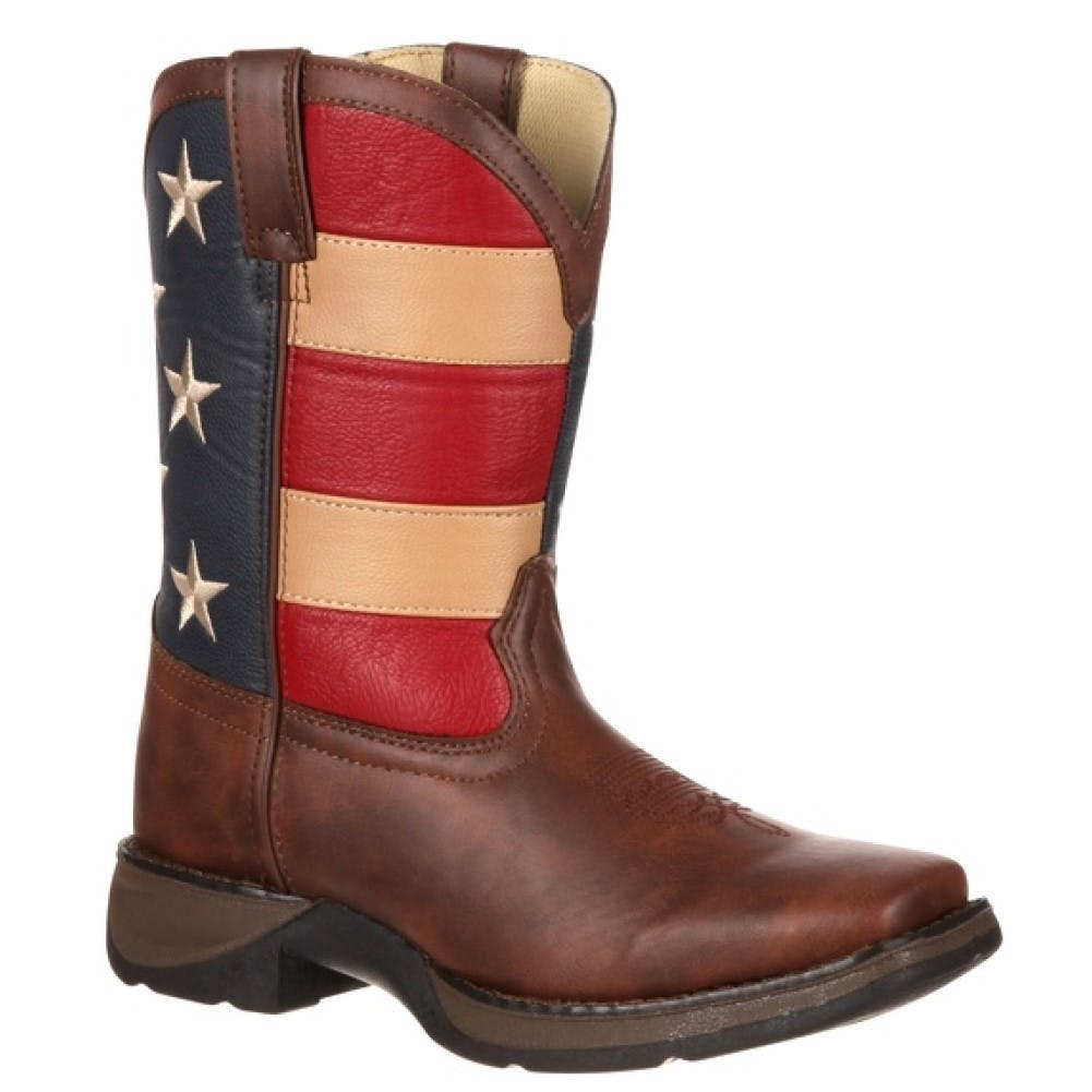 5 Youth Kids Patriotic Cowboy Boot Flag