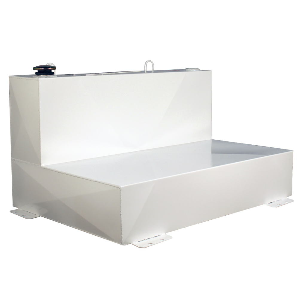 Better Built 75-Gallon Short L-Shape Steel Transfer Tank White