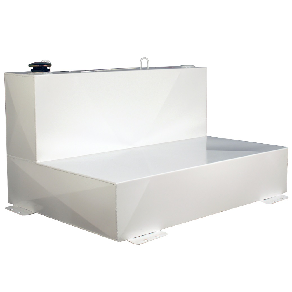 Better Built 88-Gallon Long L-Shaped Steel Transfer Tank White