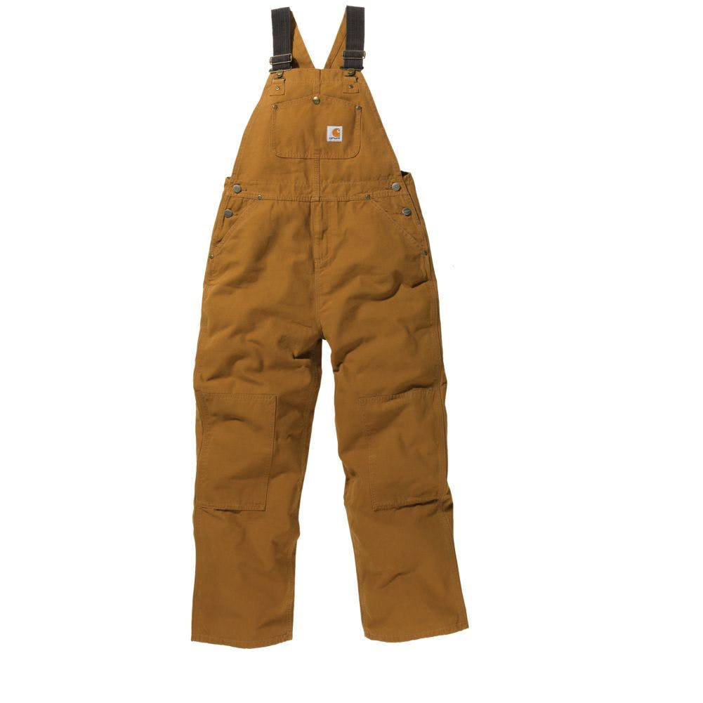 10 Youth Duck Bib Overall Carhartt Brown