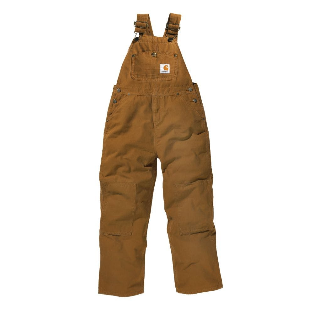 4 Kids Canvas Bib Overall Carhartt Brown
