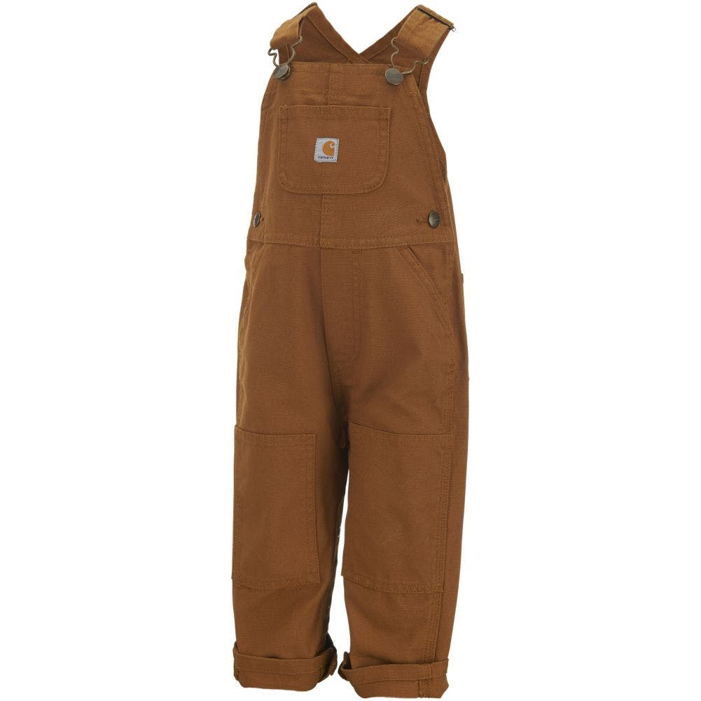12-Month Kids Canvas Bib Overall Carhartt Brown