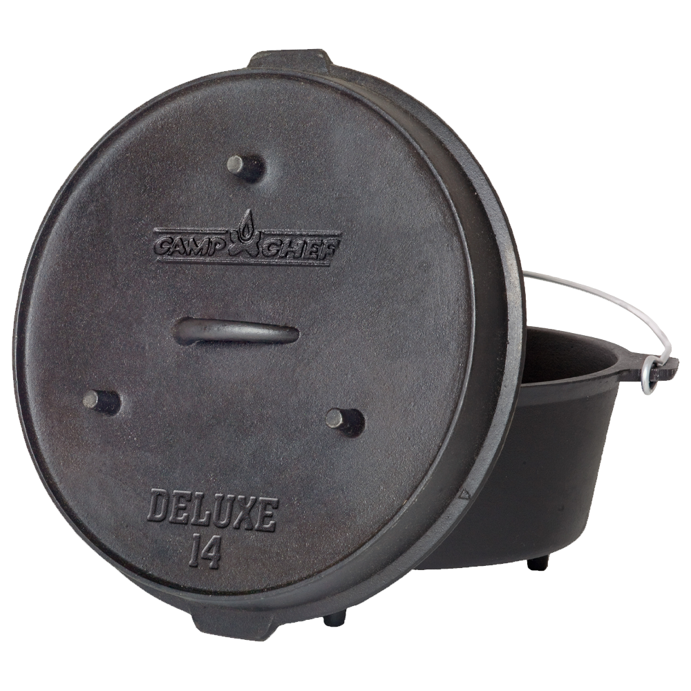 Camp Chef 14-inch Cast Iron Deluxe Dutch Oven