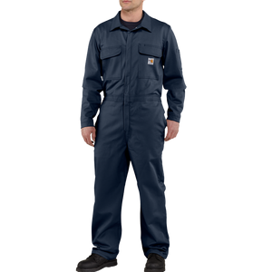 Carhartt 48-Tall Mens Flame-Resistant Traditional Twill Coverall Dark Navy