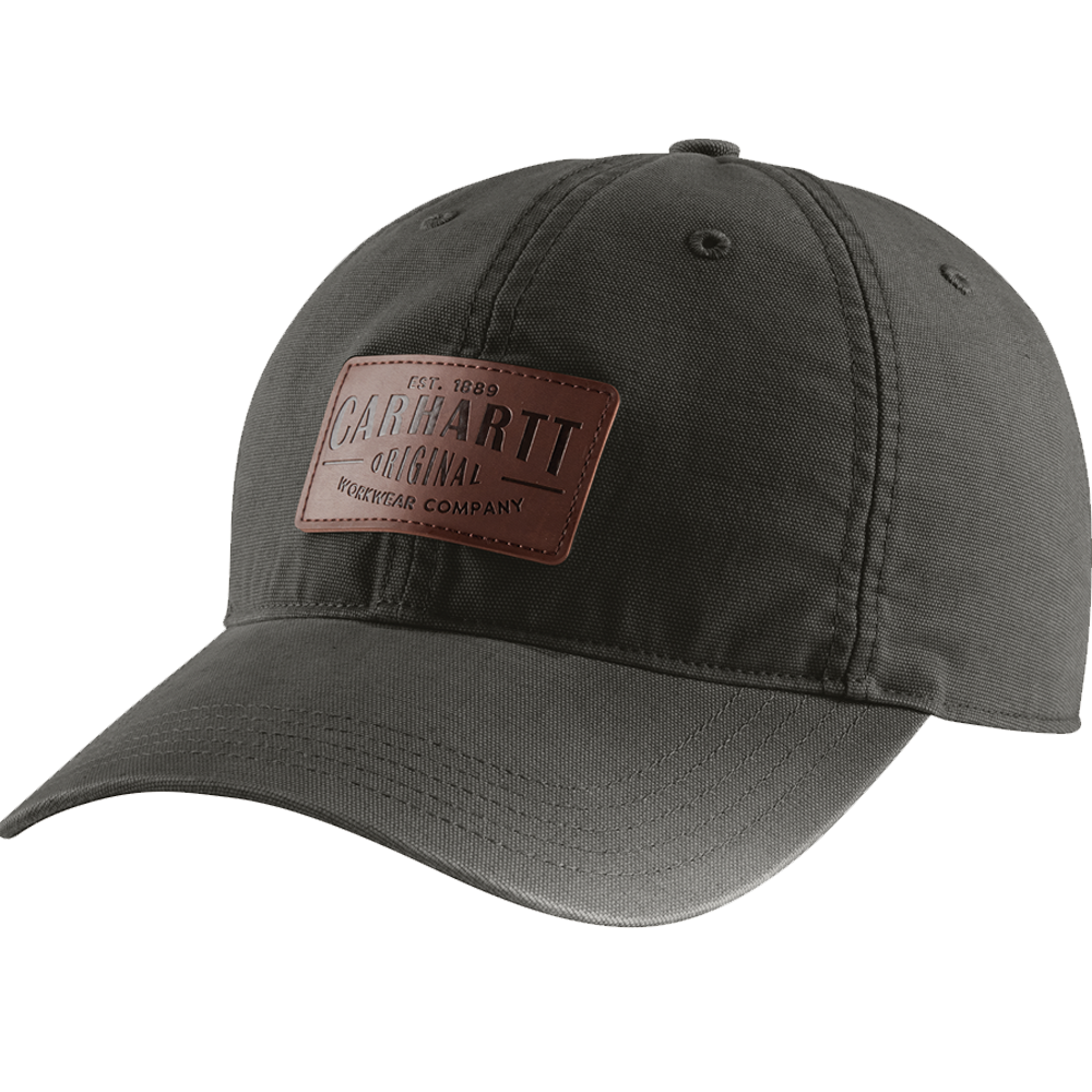 Carhartt Medium/Large Mens Rigby Leatherette Patch Cap Peat