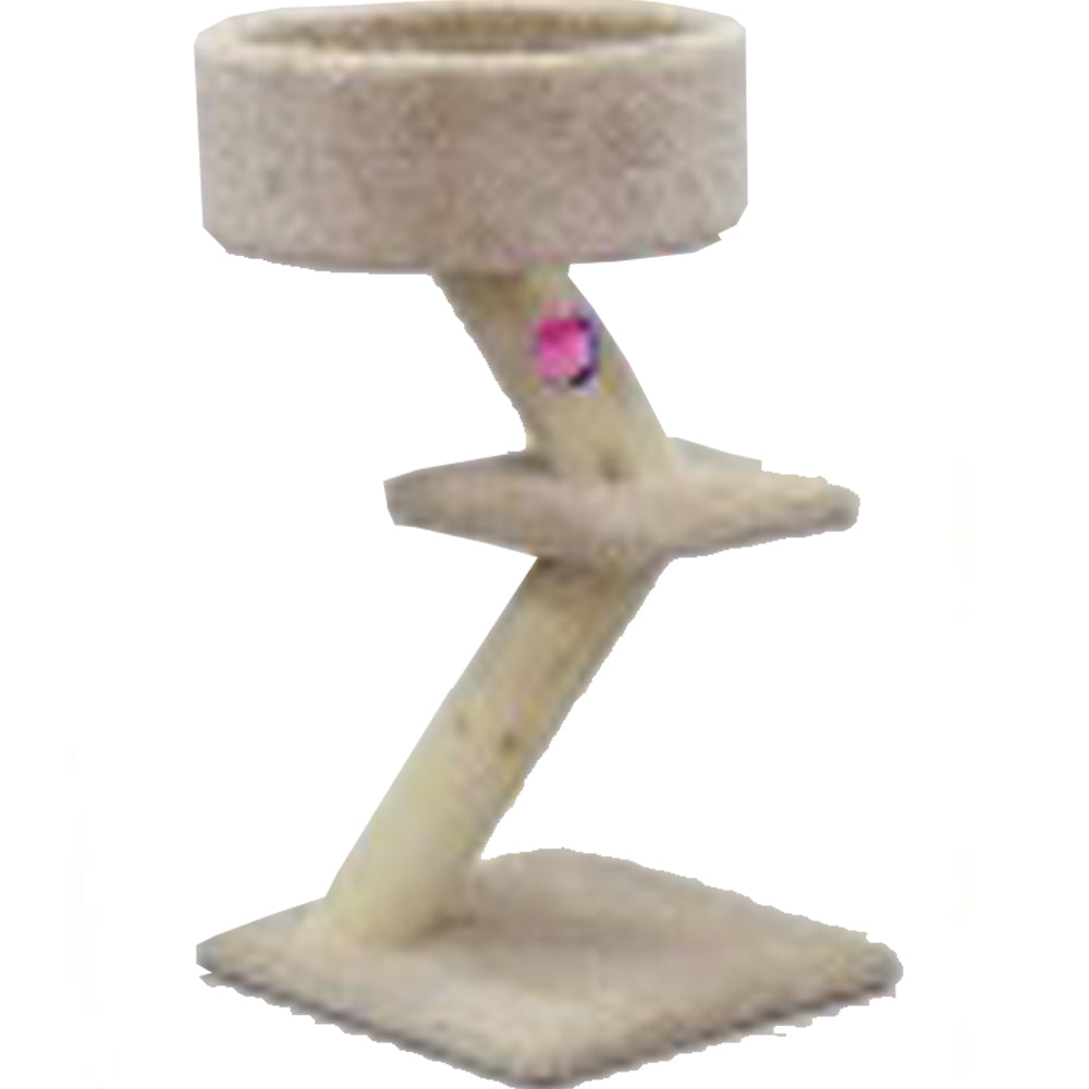 Central Pet Classy Kitty Rustic Pedestal 32-Inch