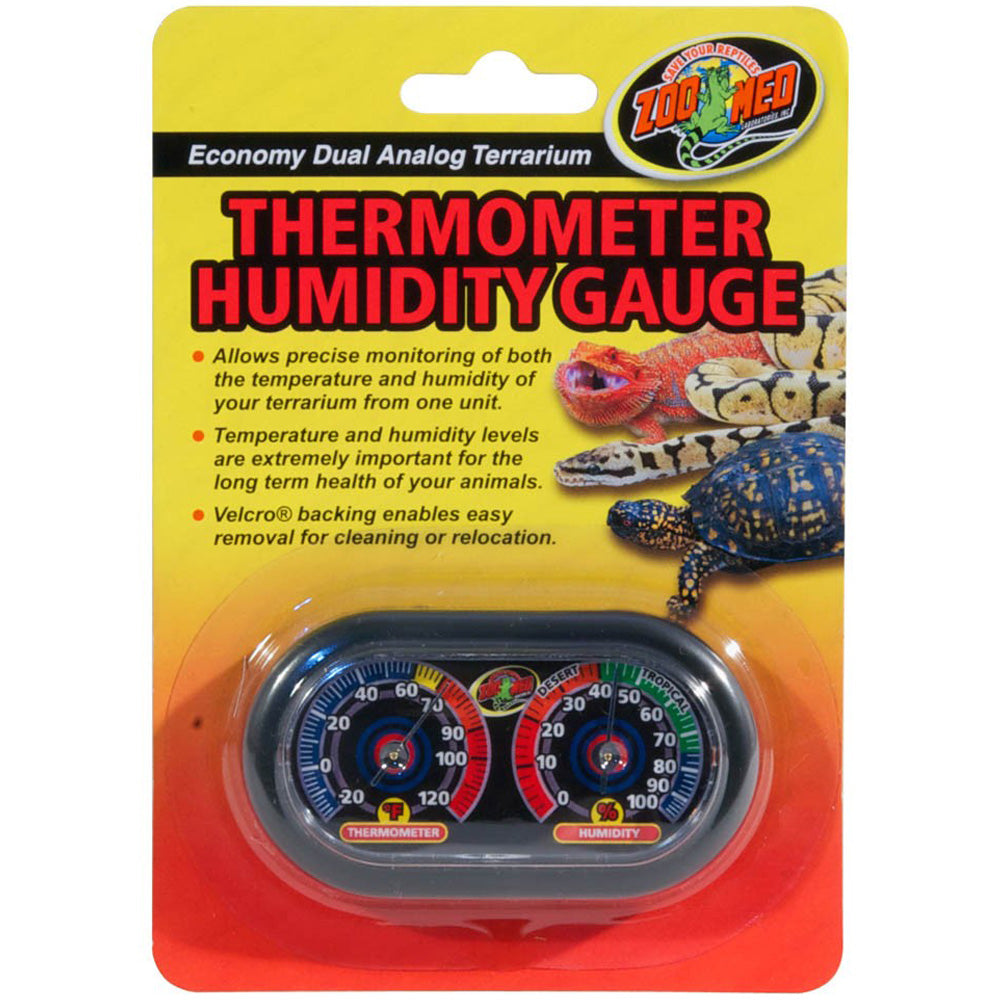 Zoo Med Economy Dual Thermometer and Humidity Gauge
