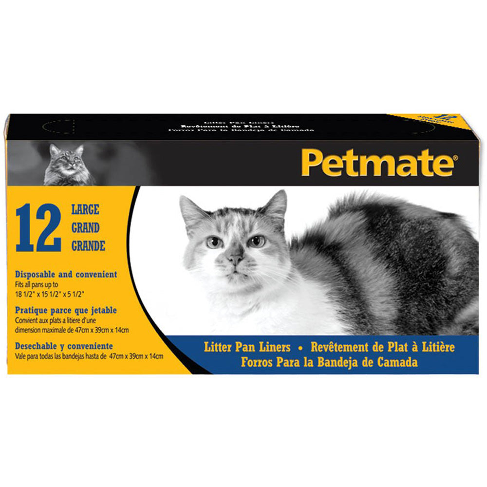 Petmate Large Litter Pan Liners 12-Count
