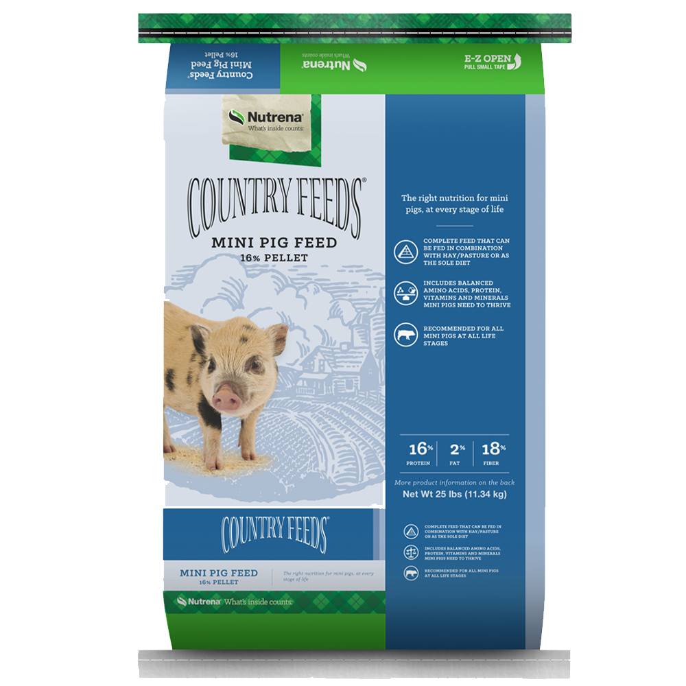 Country Feeds Mini Pig Feed 25-Lbs
