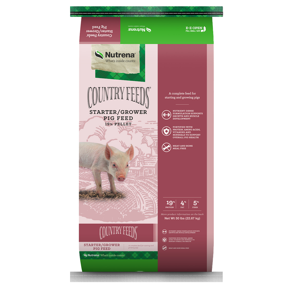 Country Feeds Starter-Grower Pig Feed 50-Lbs