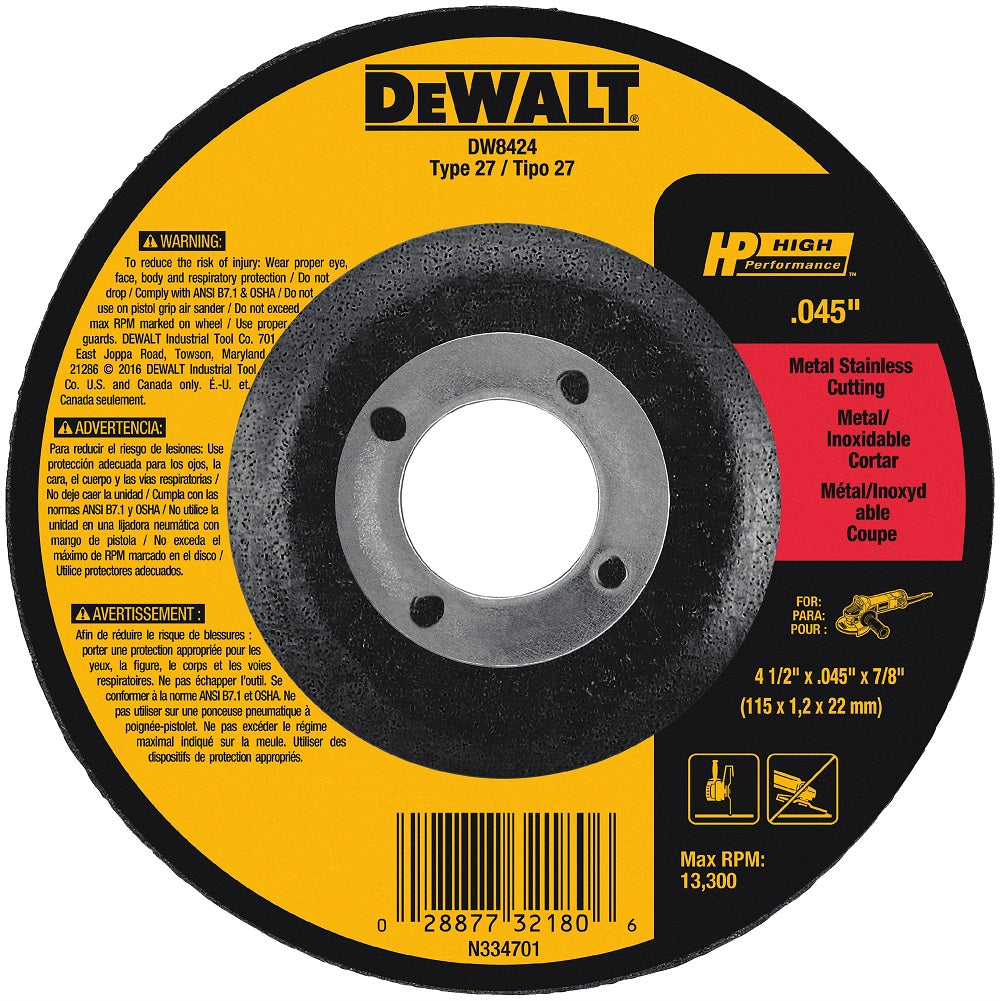 "4-1/2"" High Performance Cutting Wheel"