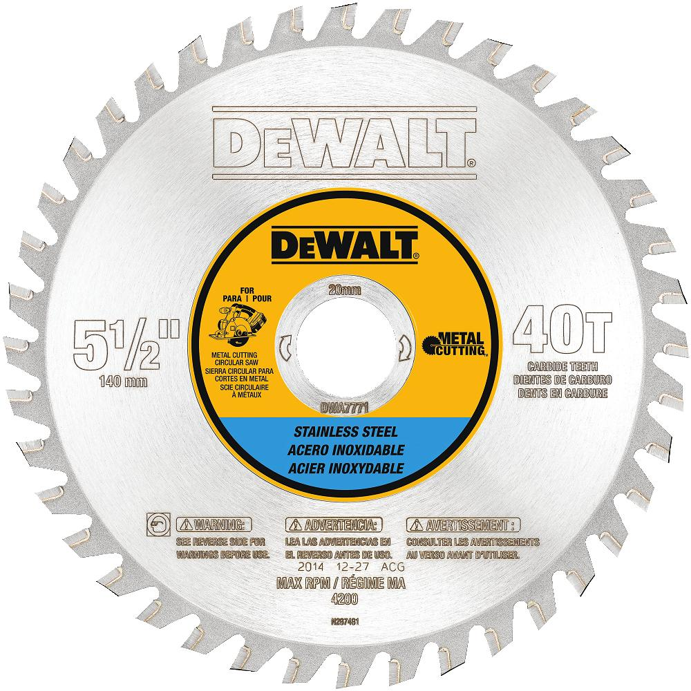 5-1/2in 40t Stainless Steel Saw Blade