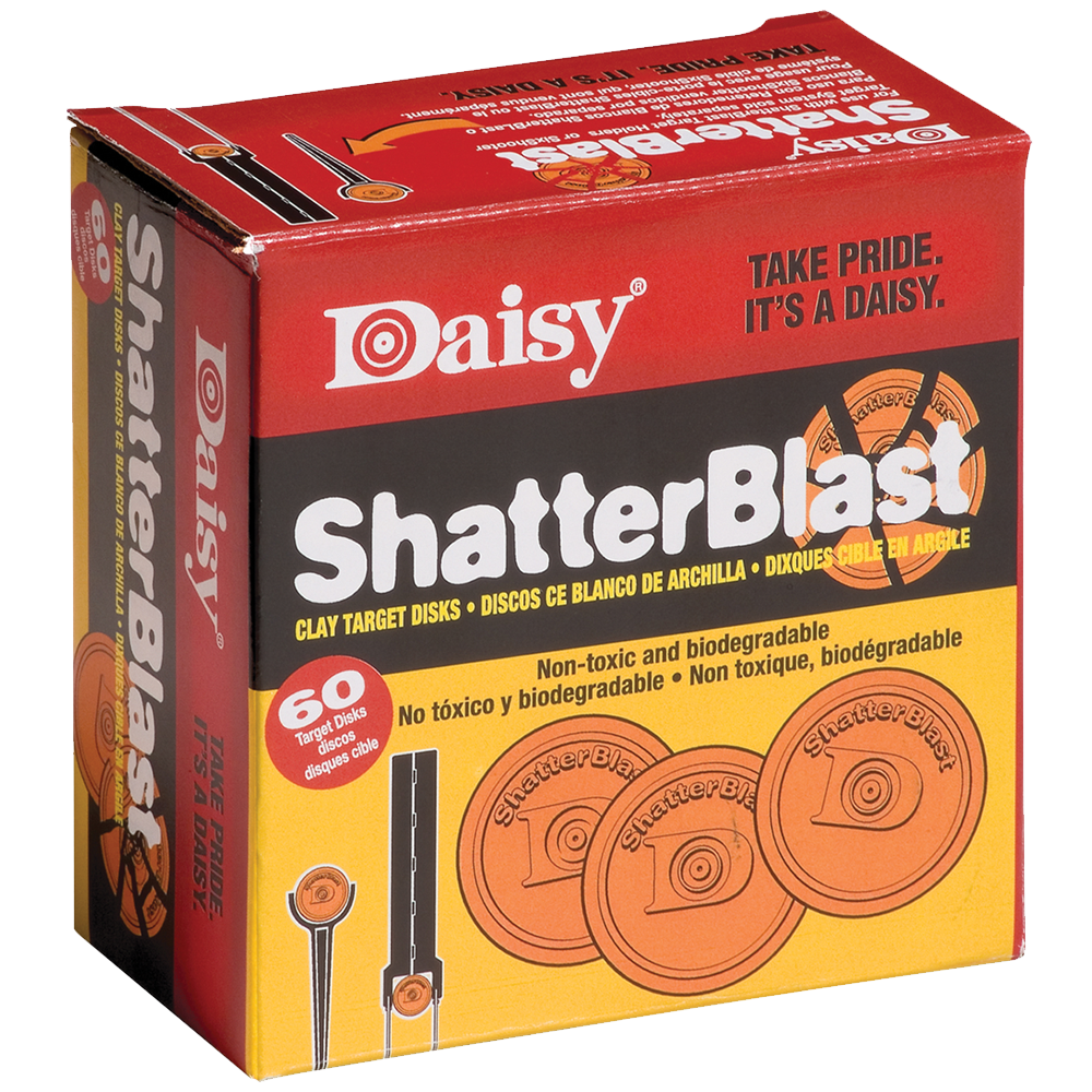Daisy Model 873 Shatter Blast Clay Targets - 60 Count