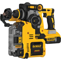 DeWalt 20V MAX XR Brushless 1-Inch L-Shape SDS With Rotary Hammer Kit And Dust Extractor