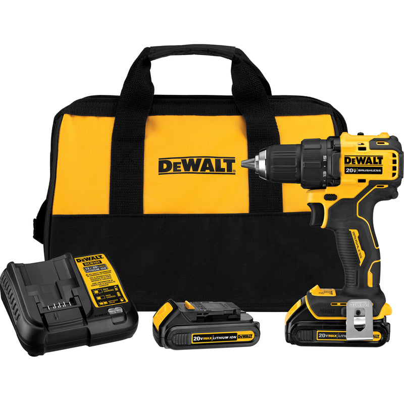DeWalt Atomic 20V MAX Brushless Compact 1/2-Inch Drill/Driver Kit DCD708C2