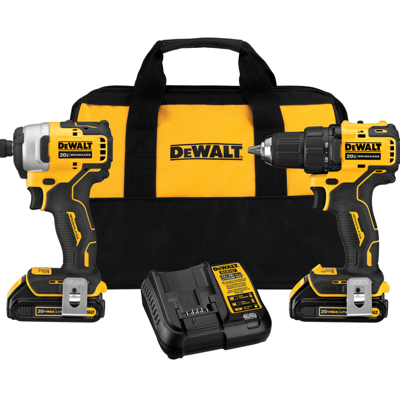 DeWalt 20V MAX Atomic Brushless Cordless 2-tool Combo Kit