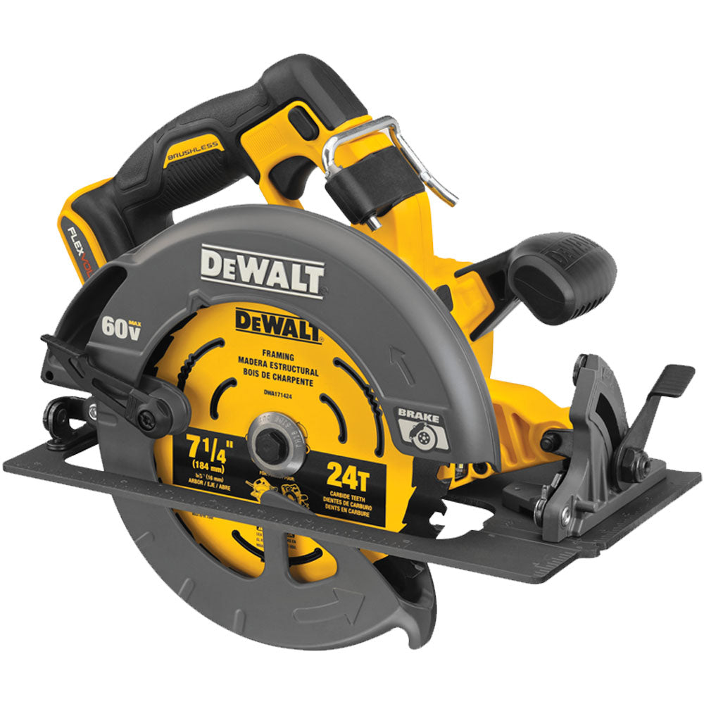 FlexVolt 60V MAX Brushless 7-1/4 Inch Cordless Circular Saw- Tool Only