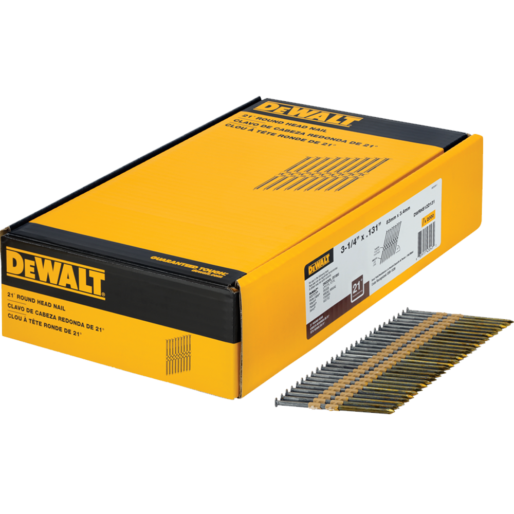 "DeWalt 3-1/4"" Smooth Bright Framing Nails"