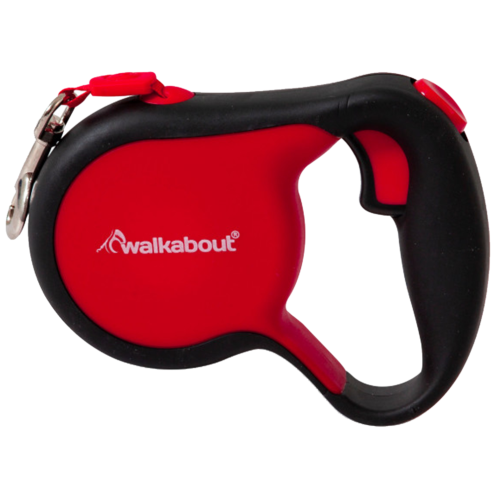 Walkabout Small Retractable Leash Red