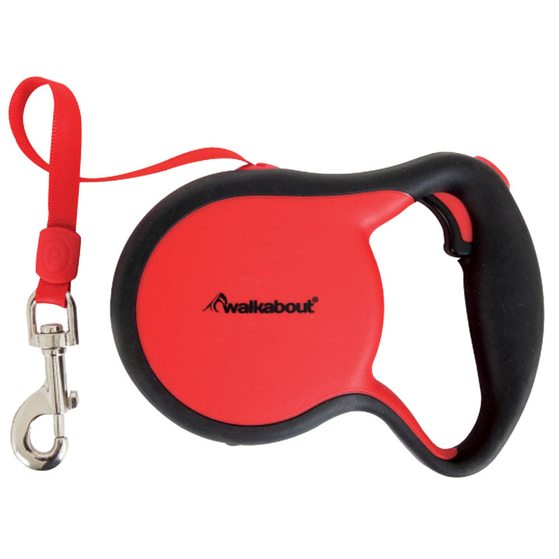 Walkabout Large Retractable Leash Red